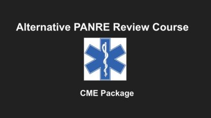 Alternative PANRE Review Course, CME with Gift Card, CME with Amazon Gift Card